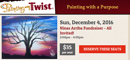Ninas Arriba - Painting with a Twist - Fundraiser
